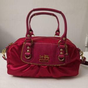 Coach Pleated Hot Pink Amanda Satchel Bag